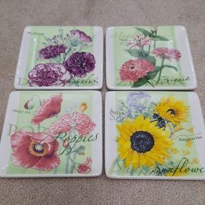 Square Garden Botanicals Plates
